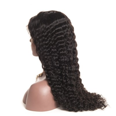 Brazilian Human Hair Wigs Deep Wave Lace Wigs with Baby Hair