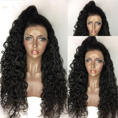 Carina Glueless Full Lace Wig Curly Human Hair Lace Front Wigs Pre Plucked Hairline