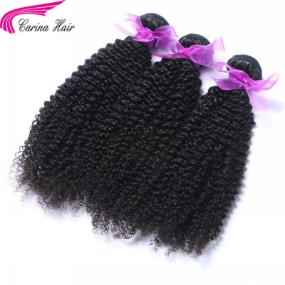 Kinky Curly Brazilian Hair Weave 3 Bundles Real Human Hair Extensions