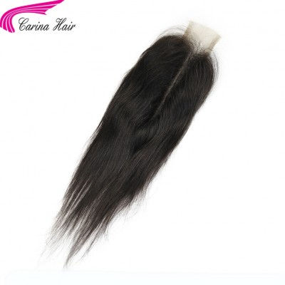 Brazilian Straight 2x6 Lace Closure Natural Color 100% Remy Human Hair