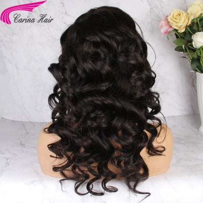 Carina hair HD Lace Loose Wave Full Lace Wigs Brazilian Remy Human Hair Lace Front Wigs