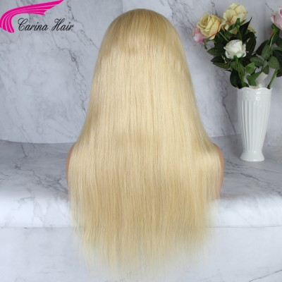 Straight Blonde Lace Front Wigs Remy Pure 613 Human Hair Full Lace Wigs