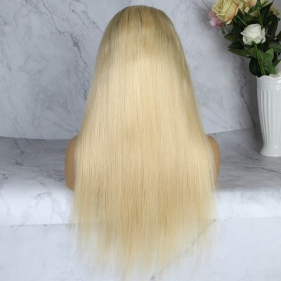 Carina 10A 1B/613 Straight Human Hair Lace Wigs Pre Plucked with Baby Hair