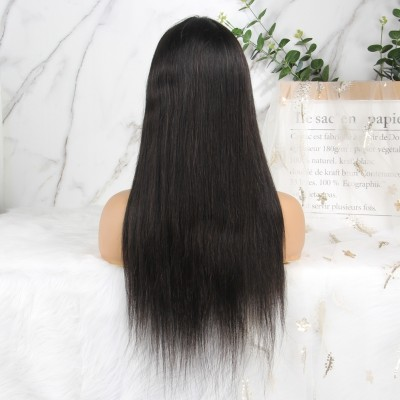Carina Customized 12A Silky Straight Wigs Pre-Plucked Bleach Knots with Baby Hair
