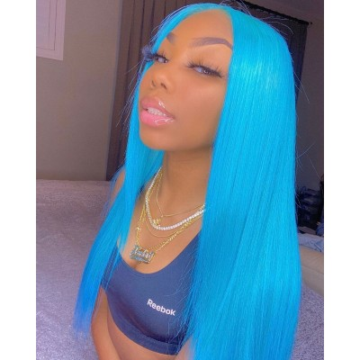 Carina Customized Color Straight Lace Front Wig Pre-Plucked Hairline with Baby Hair Glueless Wigs
