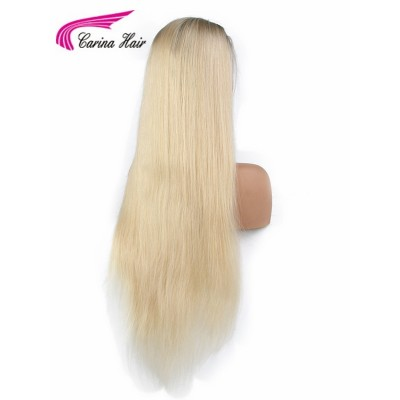 Blonde Ombre Human Hair Lace Front Wigs Straight 1B/613  Full Lace Wigs With Baby Hair