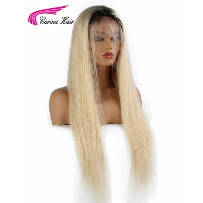 1B/613 Straight 10A Human Hair Lace Wigs Pre Plucked with Baby Hair