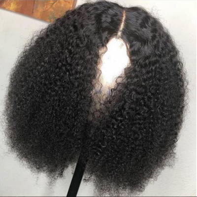 Brazilian Remy Afro Kinky Curly Human Hair Full Lace Wigs Glueless Pre Plucked with Baby Hair