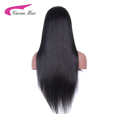360 Lace Frontal Straight Human Hair Wigs Virgin Human Hair Natural Color 360 Lace Wigs with Baby Hair