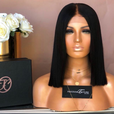 8-16'' Short Bob Wigs Straight Human Hair Lace Wigs with Baby Hair 150%